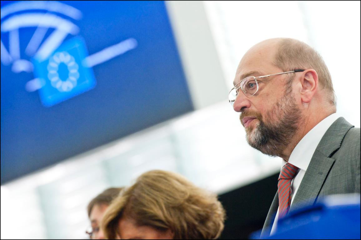 EP President Martin Schulz during the minute of silence