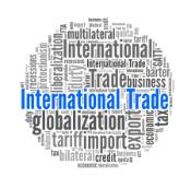 International Trade in word collage