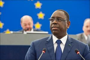 Senegal President Macky Sall delivered a formal address to MEPs