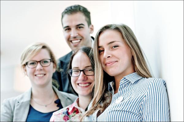 Vasaklut paremale: Kathrin Renner, Luis Alvaro Martinez, Anne-May Kaldoja,  Katarzyna Siennicka