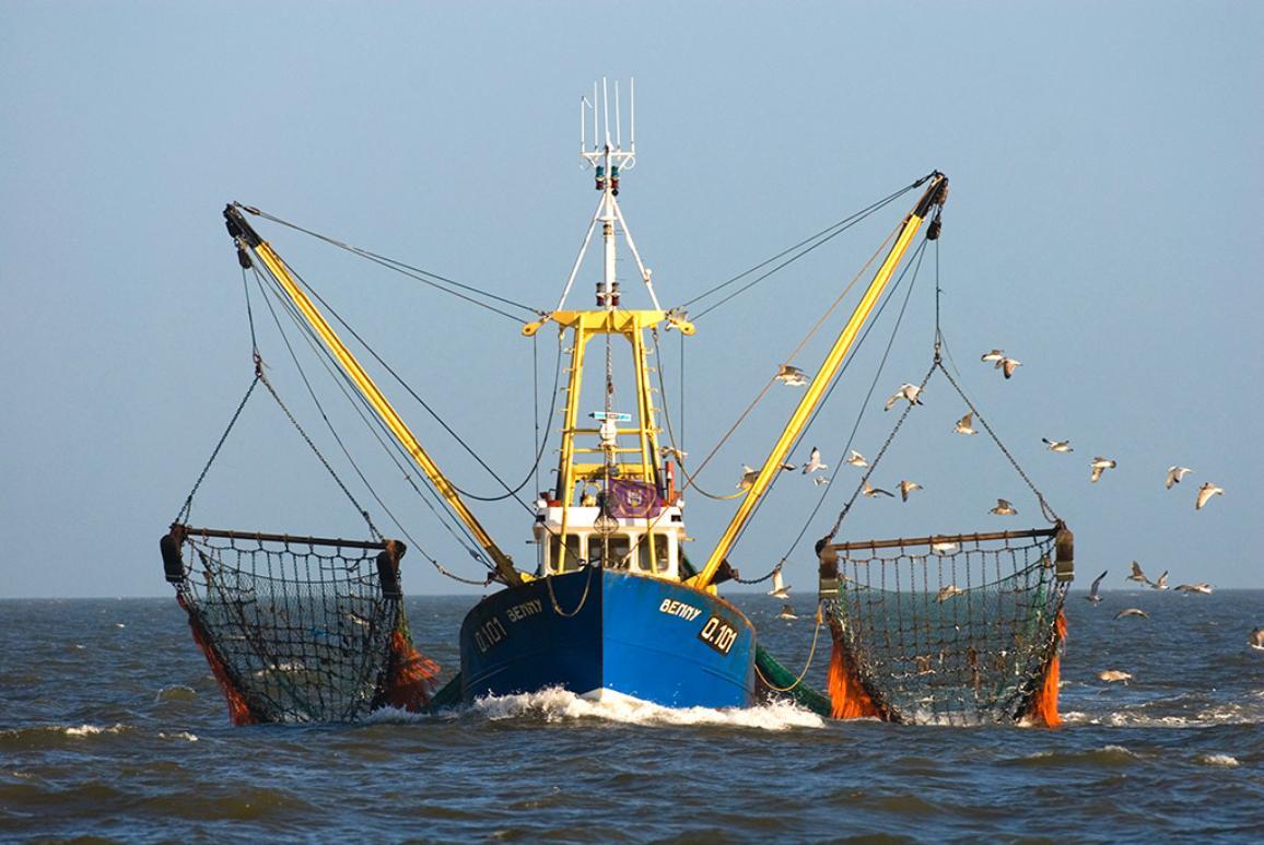 Fishingboat on the North Sea