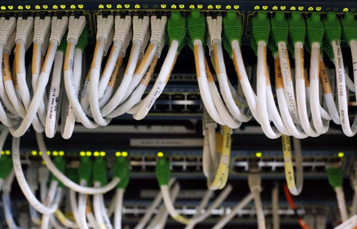 Network cables. ©BELGA/AFP/T.Coex