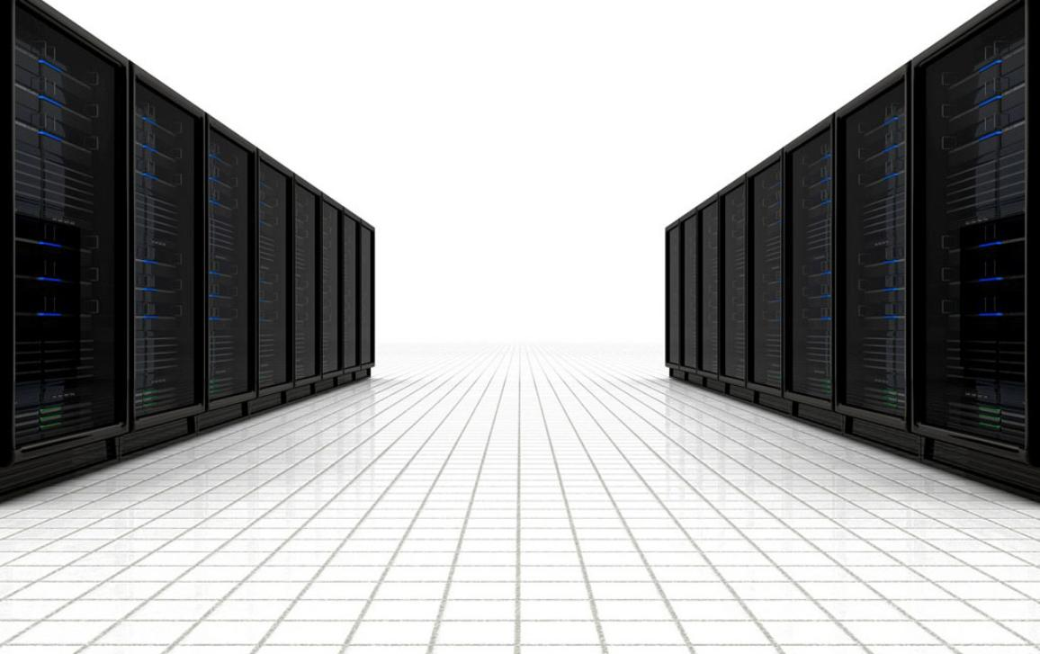 Data protection illustration image, a line of servers ©BELGA_EASYFOTOSTOCK