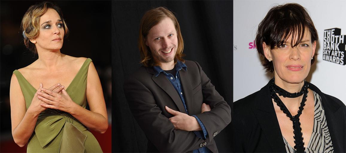 da esquerda para a direita Valeria Golino, Felix Van Groeningen and Clio Barnard  ©Belga