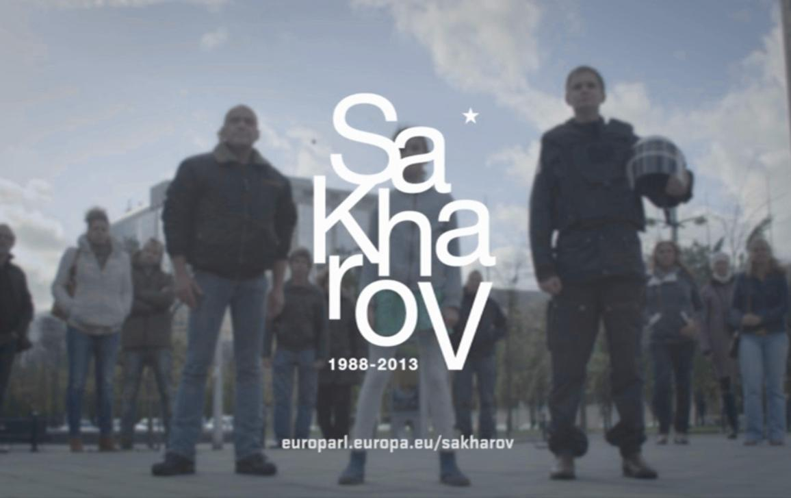 The video for Sakharov Prize 2013 is the element of the information campaign about the 25th anniversary of the Sakharov Prize