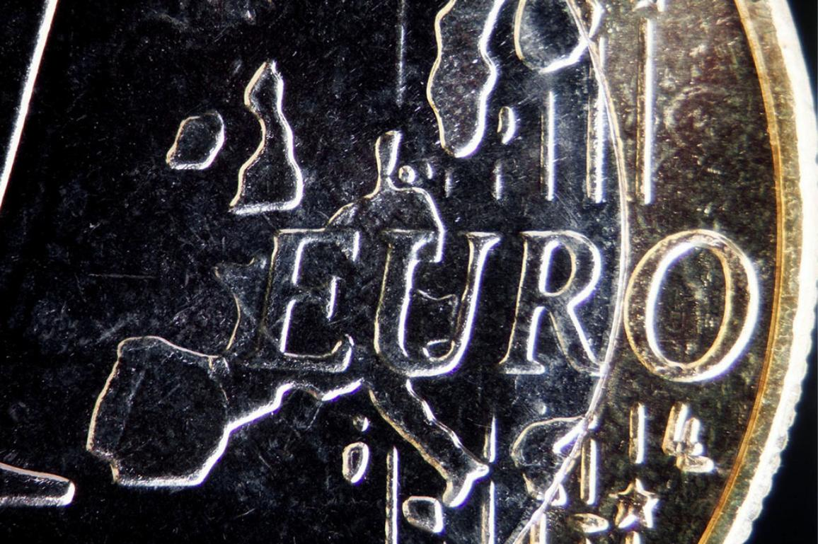 Marco picture of a Euro coin - illustration