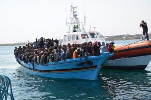Frontex during a rescue operation