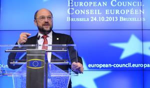 EP President Martin Schulz during the European Summit Press Conference ©The Council of the European Union
