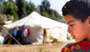 Child in refugee camp