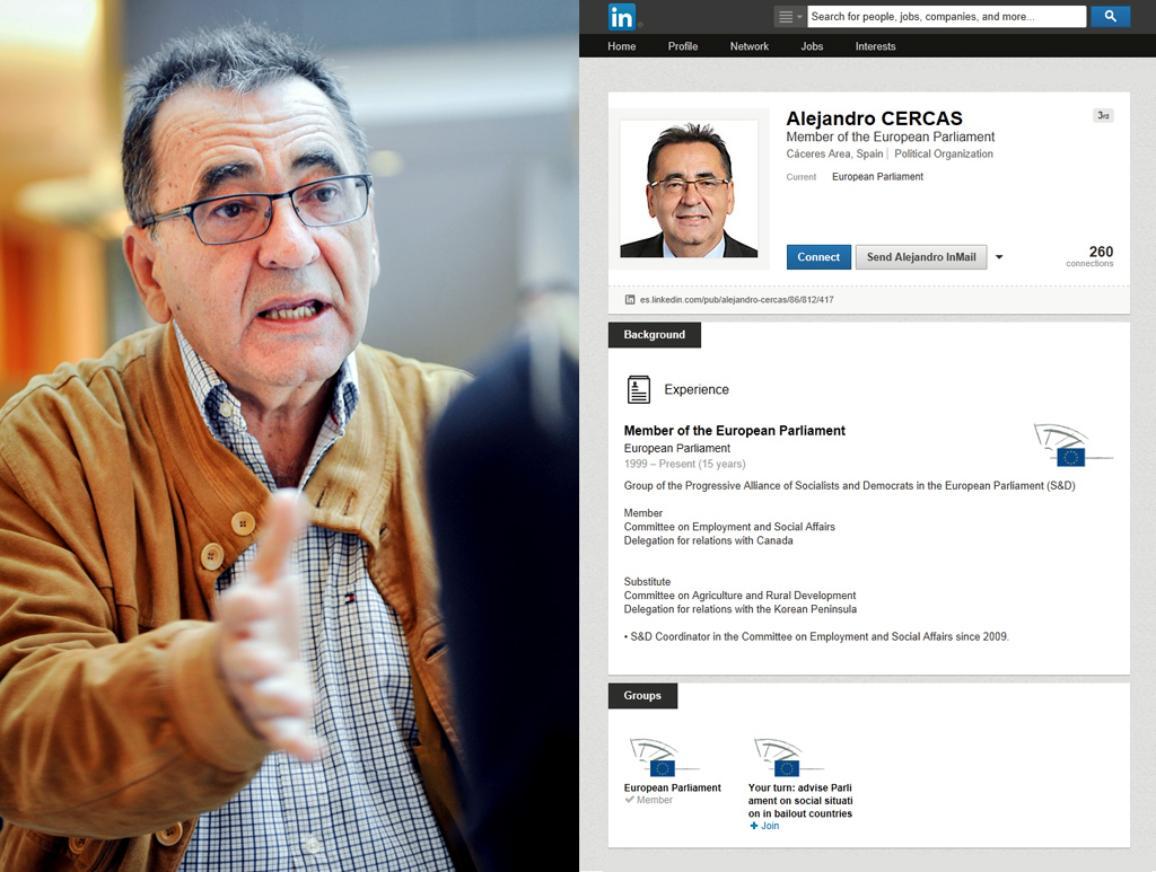 MEP Alejandro Cercas on LinkedIN