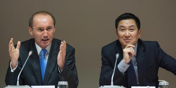 Othmar Karas and Liem Hoang Ngoc. Troika Econ Delegation