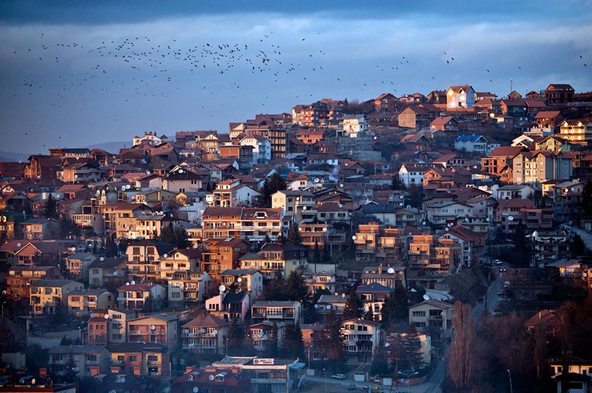 View of Pristina, capital city of Kosovo