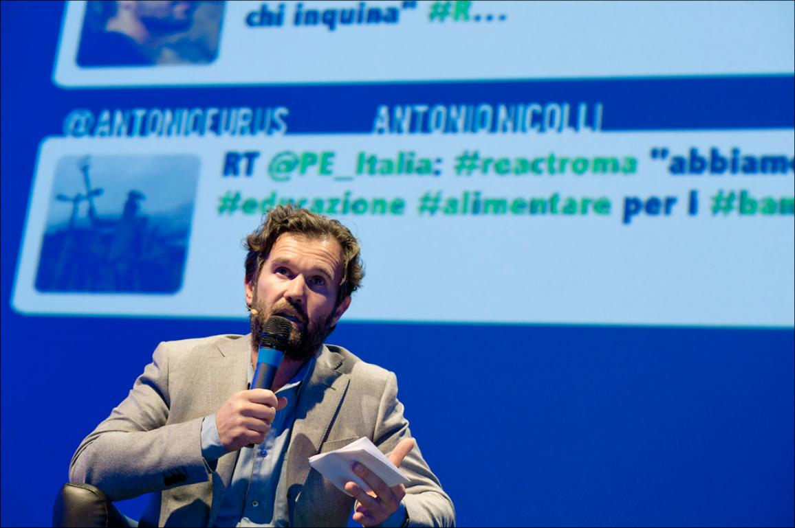 The italian Chef Carlo Cracco during the Roma React event, EP 2014 information election campaign