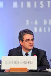 Roberto Azevêdo, Director-General of WTO during the Ministerial Conference in Bali, 3 December 2013