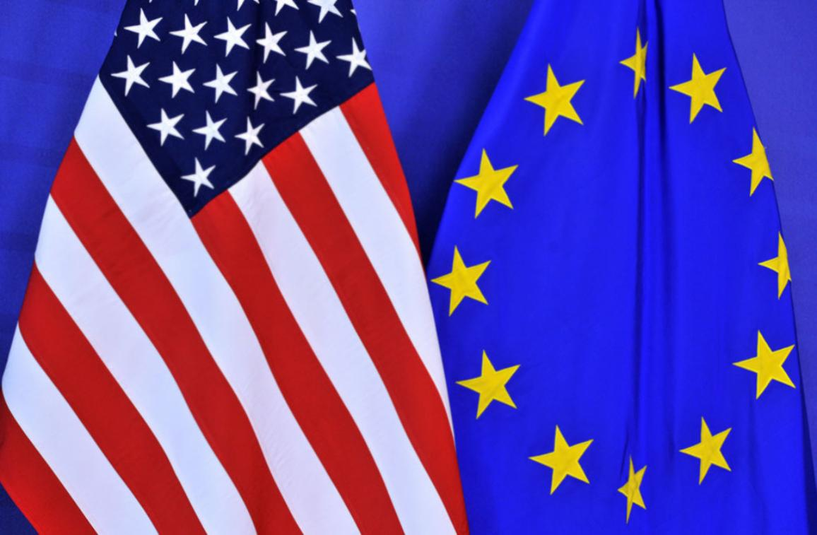 EU USA flag illustration