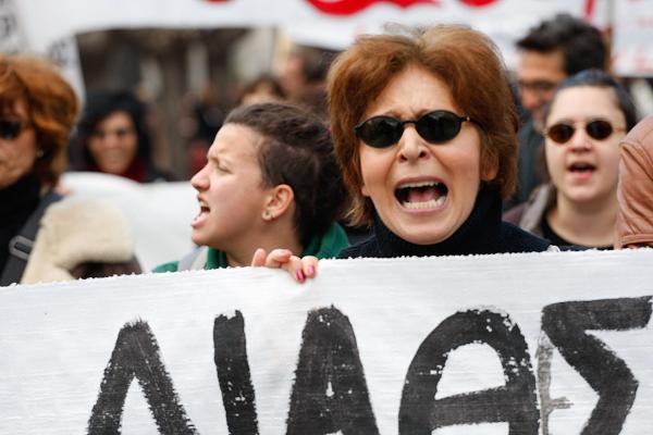 Proteste gegen Sparauflagen