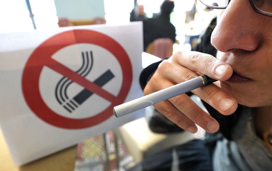 E-Cigarette in a public place