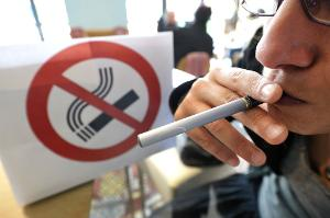 E-Cigarette in a public place