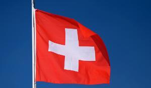 The flag of Switzerland
