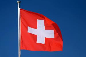 The flag of Switzerland