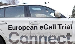 A car with eCall machine