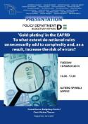 Study Poster Gold Plating in EAFRD