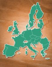 mapa EU