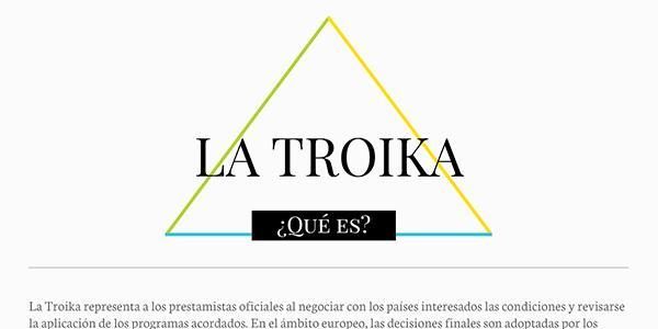 Nuestra infografía muestra las tres instituciones que forman parte de la Troika.