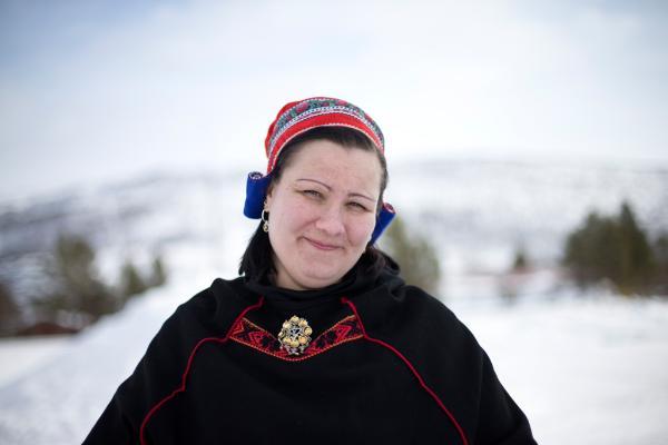 Die samische Musikerin Annukka Hirvasvuopio-Laiti. Sie möchte ein Musikzentrum in Utsjoki aufbauen