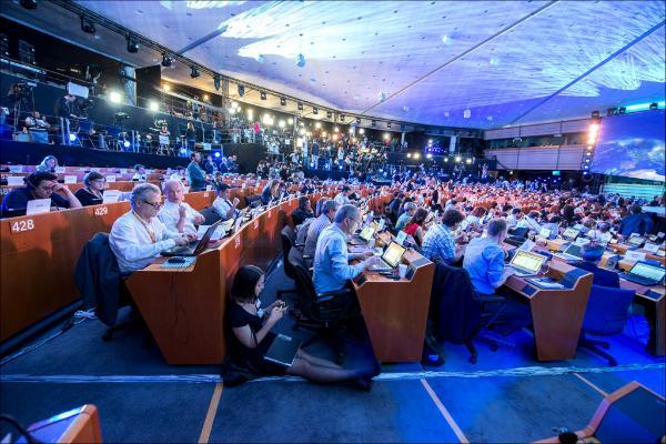 Europpawahl live aus dem Presszentrum in Brüssel