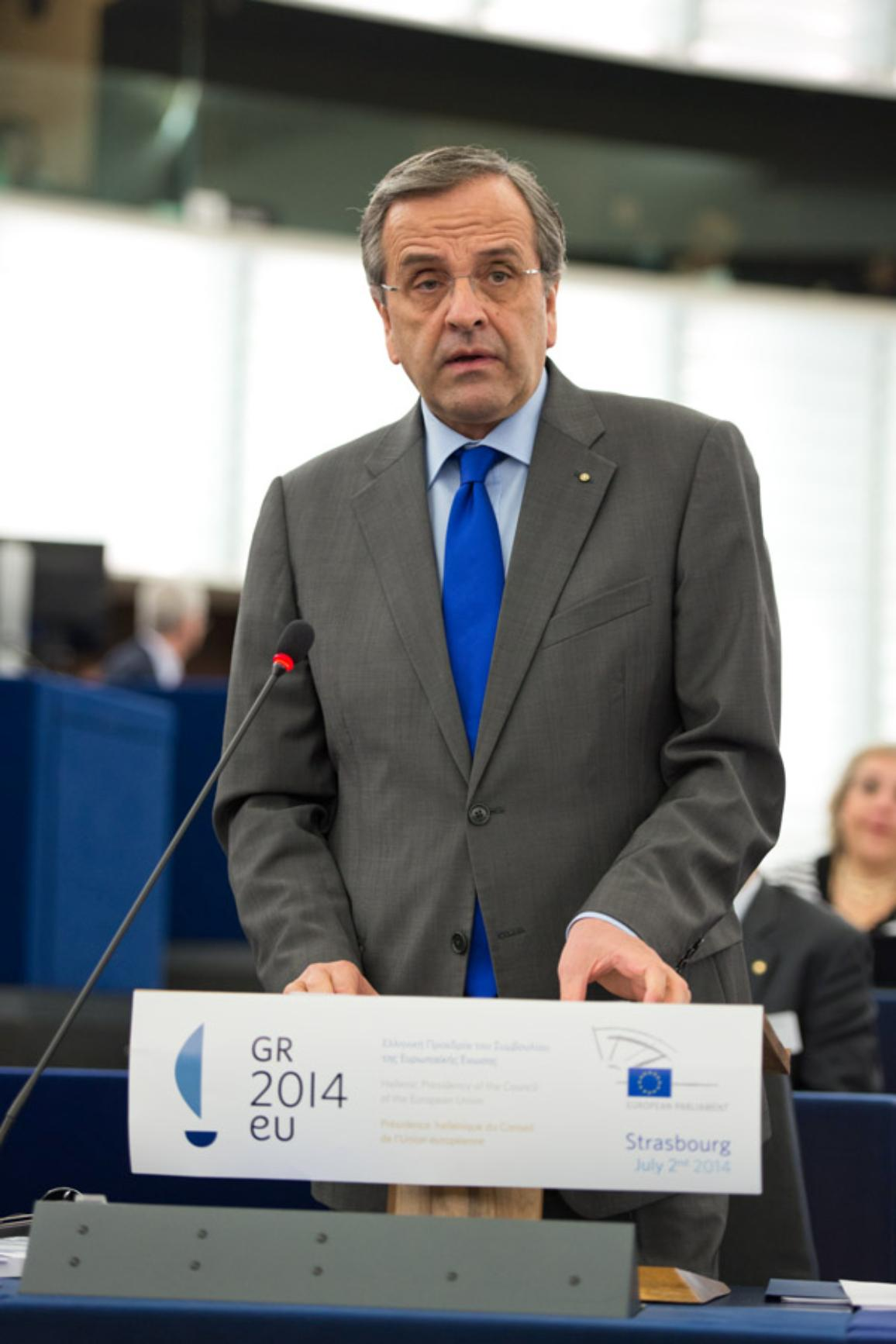 Antonis Samaras Greek Prime Minister at the EP