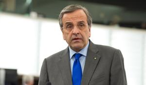 Antonis Samaras Greek Prime Minister at the EP