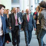 Jean-Claude Juncker u l-President tal-PE Martin Schulz