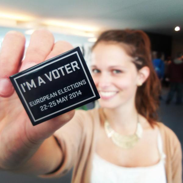"Vanessa, 20 from Germany: ""I'm a voter at the EP elections"""