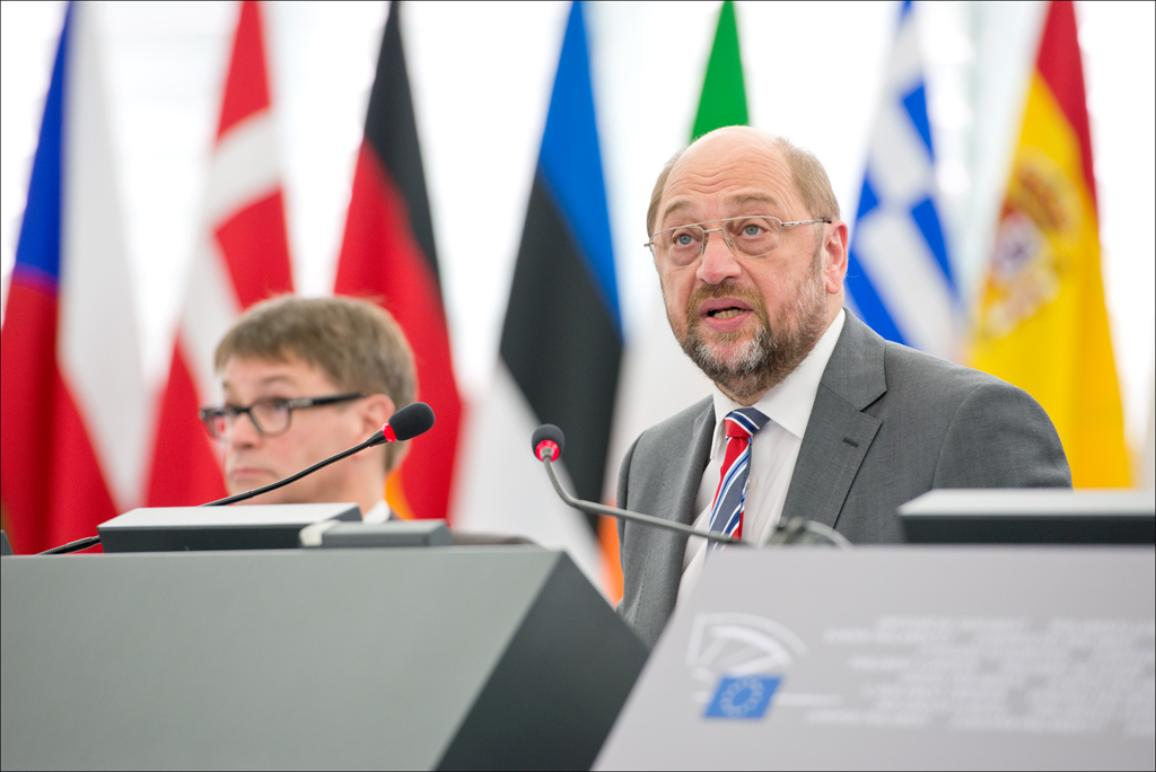 EP President Martin Schulz opens July II plenary session on 14 of July 2014