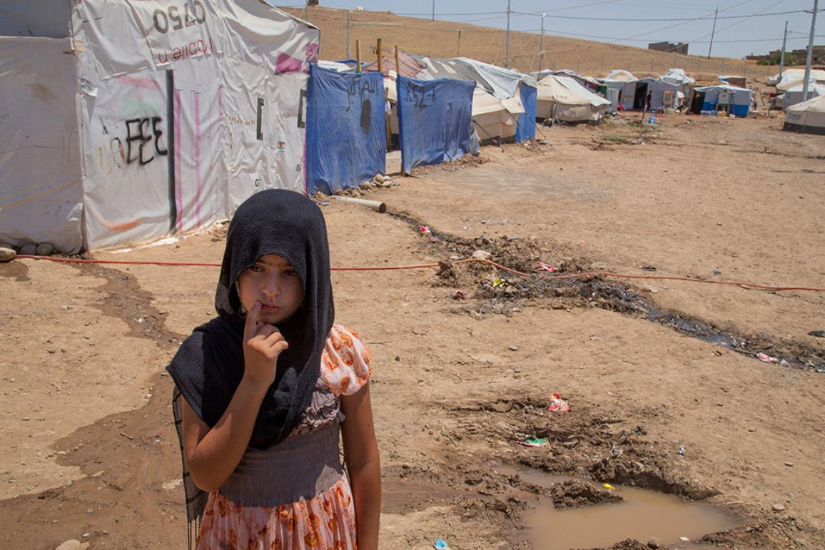 Syrian refugees live day by day in Refugee Camp north of Erbil Iraq