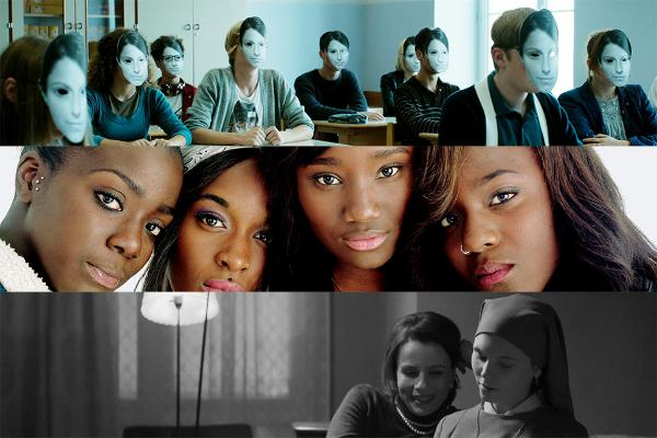 De haut en bas: Ennemi de classe (Razredni sovražnik) de Rok Biček, Bande de filles de Céline Sciamma, Ida de Pawel Pawlikowski