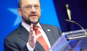 Schulz i talastolen ©The Council of the European Union