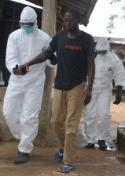 Monrovia, a man infected with the Ebola virus