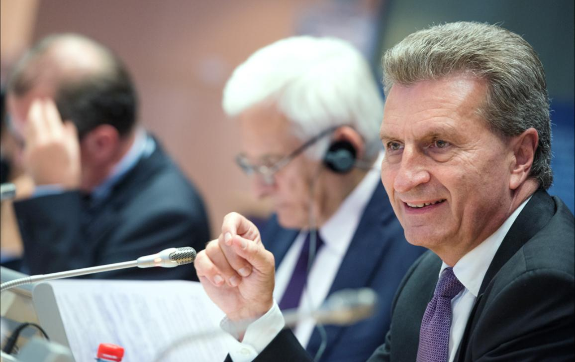 European Commissioner Oettinger at the EP