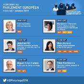 Infographie présentant les commissaires candidats interrogés le 1er octobre