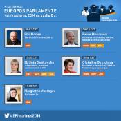 Europarlamentarai ketvirtadienį išklausys penkis pretendentus į eurokomisarus