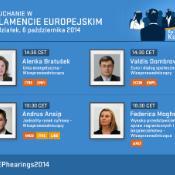 Piąty dzień wysłuchań kandydatów na komisarzy w Parlamencie Europejskim.