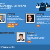 #EPhearings2014: Katainen, Timmermans şi Hill .