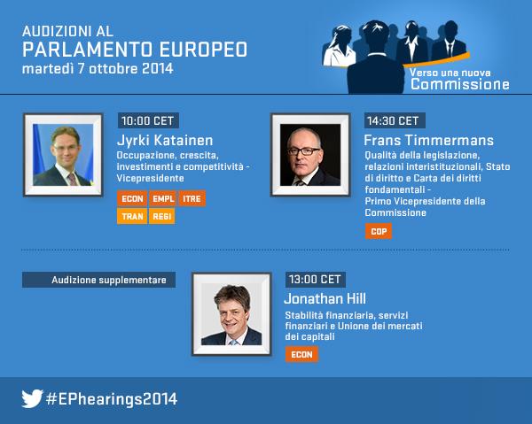 Ephearings2014 in diretta il sesto giorno delle for Diretta parlamento oggi