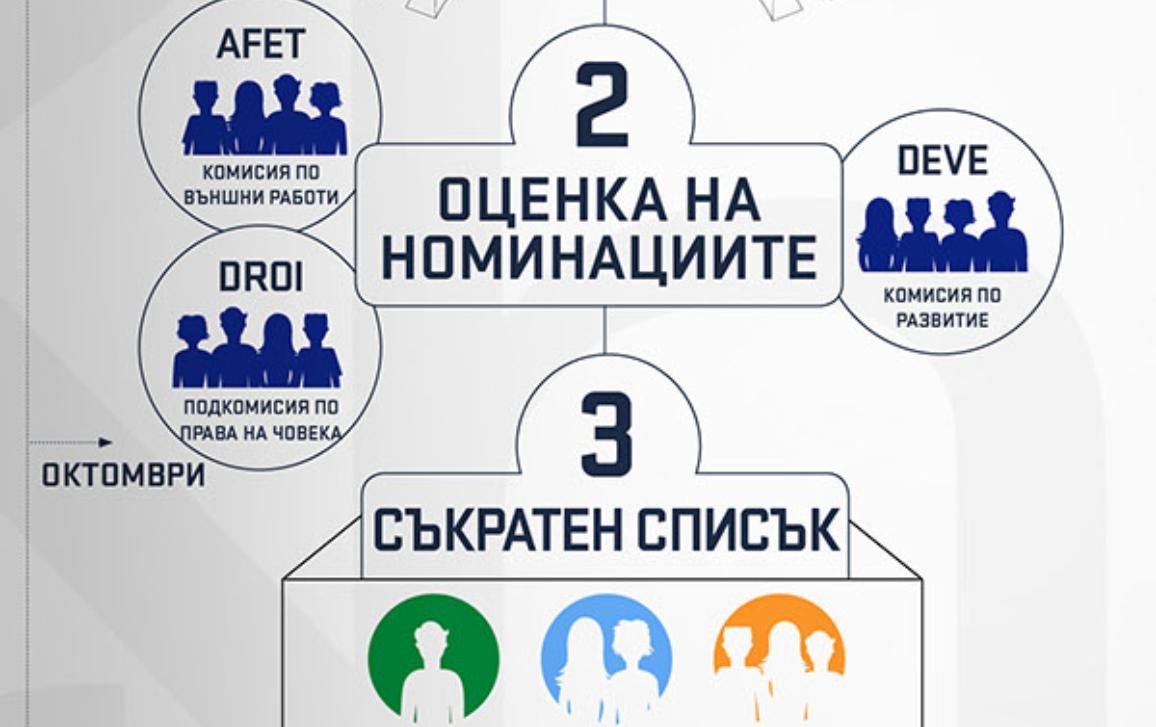 """Инфографика: Процесът на избор на носител на наградата """"Сахаров"""""""