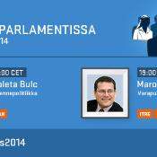 Kuulemiset parlamentissa maanantaina 20.10 klo 20 Suomen aikaa