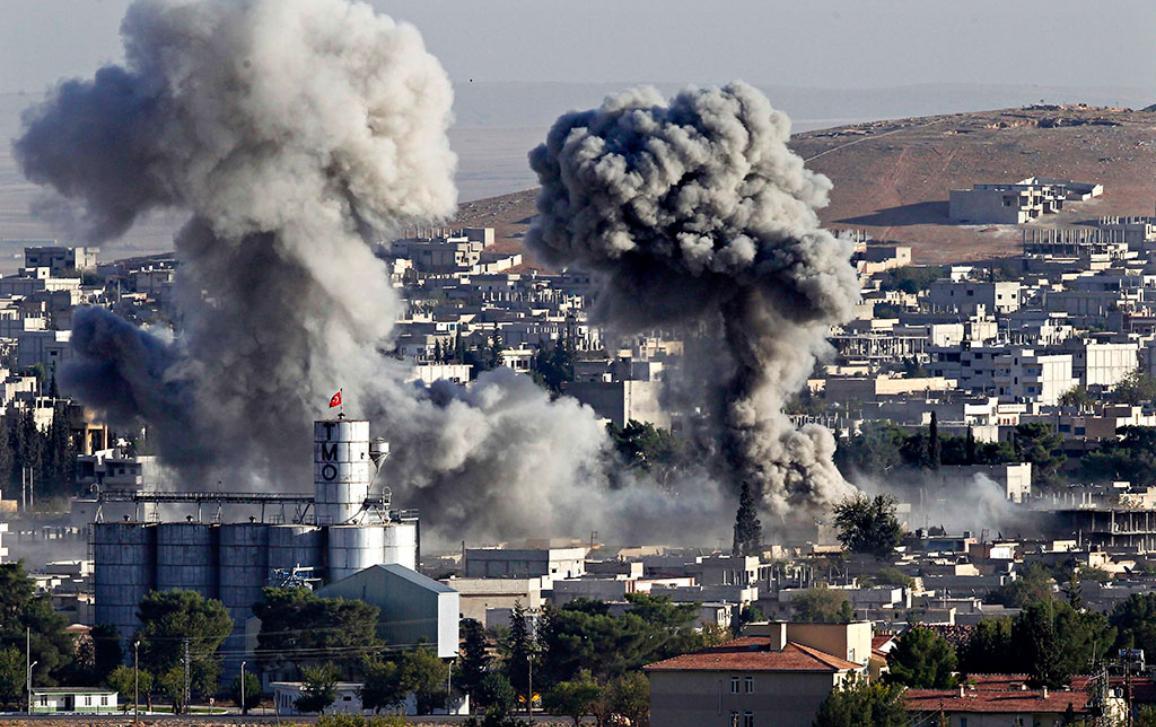 Isis assault on Kobani, Iraq on the Turkish border