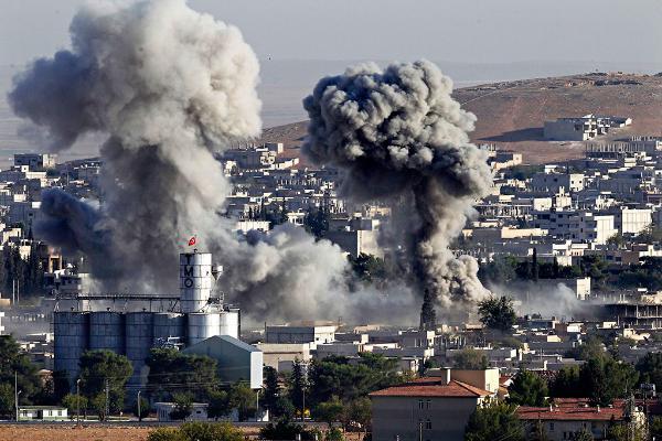 Isis assault on Kobane, Iraq on the Turkish border