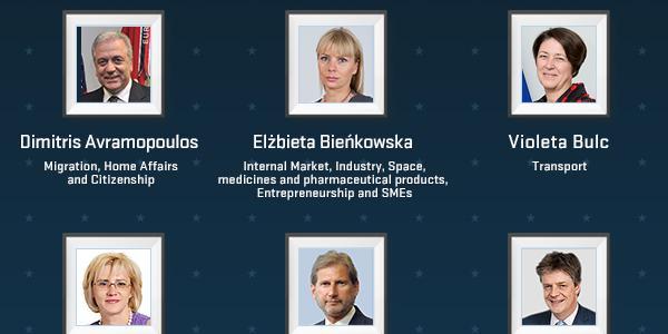 Portréty nových komisárov